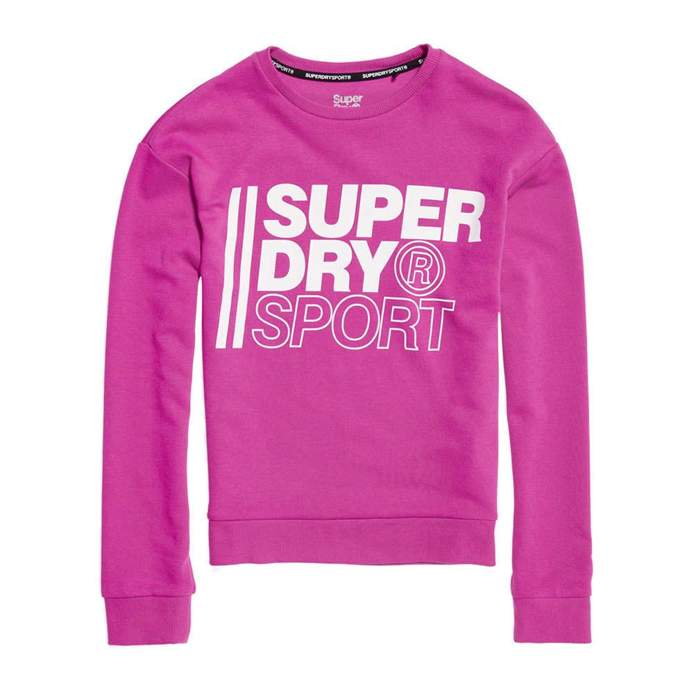 Superdry Core Sport Crew XS Super Pink