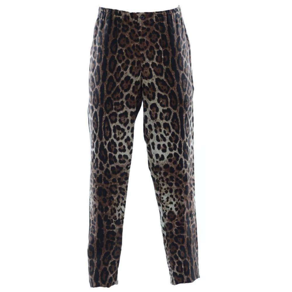 Dolce & Gabbana Print Animal Trousers 52 Brown