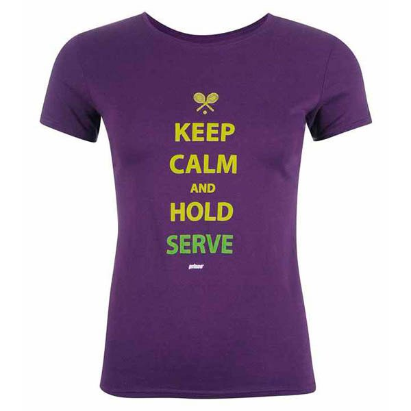 Prince Keep Calm And Hold Serve XS Purple / Yellow