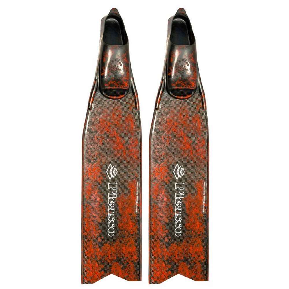 Picasso Ultimate Carbon Spear Fishing Flossen EU 40-42 Red Camo Geschlossene Flossen Ultimate Carbon Spear Fishing Flossen