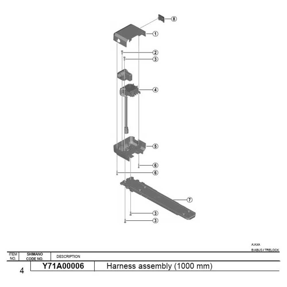 Shimano Battery Mounting Harness E-6000a E 600b One Size Black