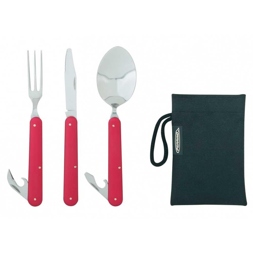 Ferrino Cutlery Clip One Size Red