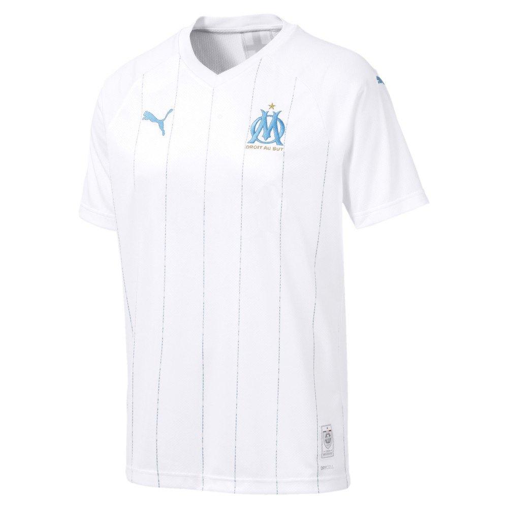Puma Olympique Marseille Home 19/20 S Puma White / Azure Blue