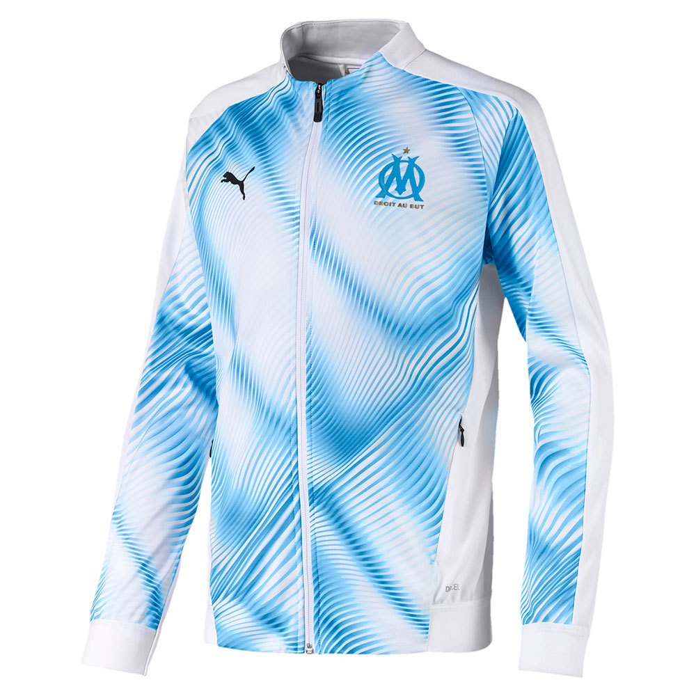 Puma Olympique Marseille Stadium Domestic League 19/20 Junior 128 cm Puma White / Azure Blue