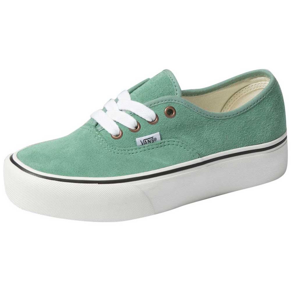Detalles de Vans Authentic Platform 2.0 Verde T36830 Zapatillas Mujer Verde , Zapatillas
