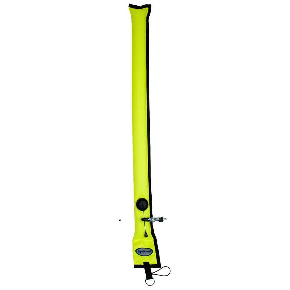Halcyon Divers Alert Marker With Opv 100 cm Yellow Tauchbojen Divers Alert Marker With Opv 100 Cm