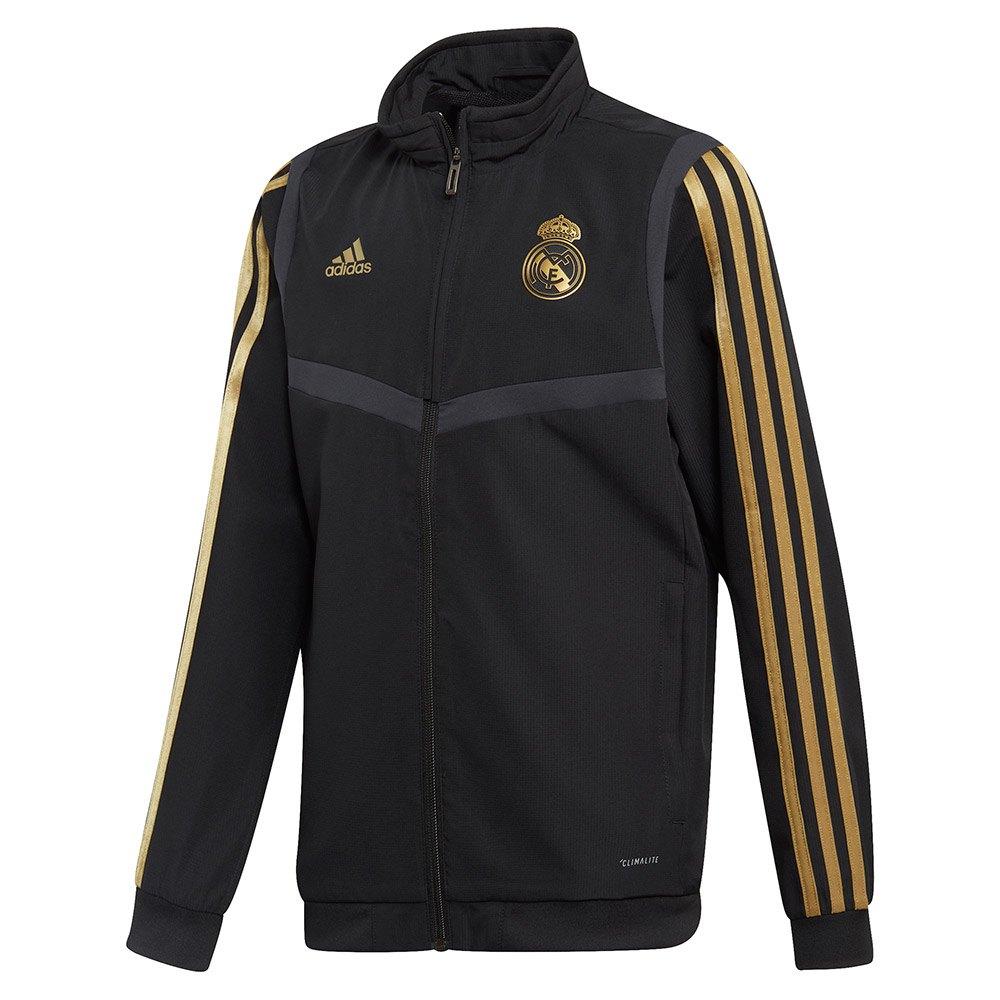 Adidas Blouson Real Madrid Présentation 19/20 Junior 128 cm Black / Dark Football Gold