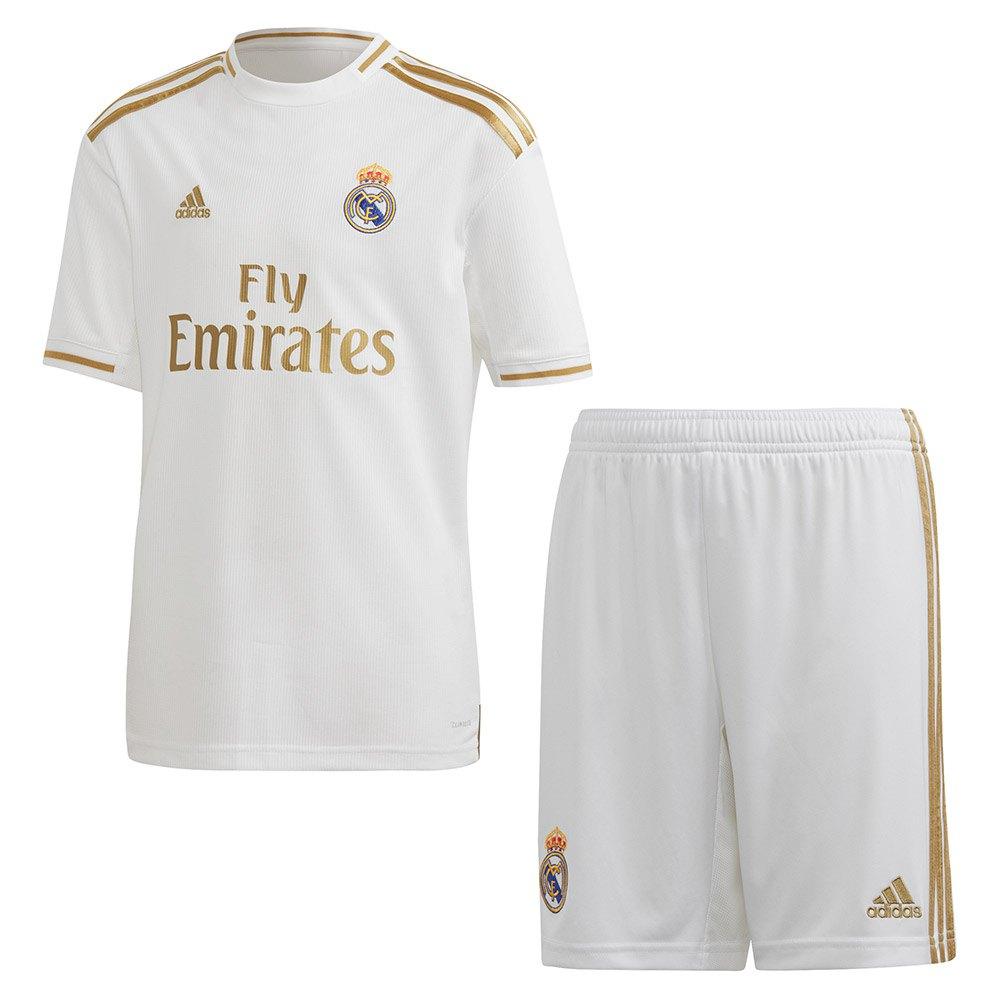 Adidas Ensemble Real Madrid Domicile Junior 19/20 164 cm White