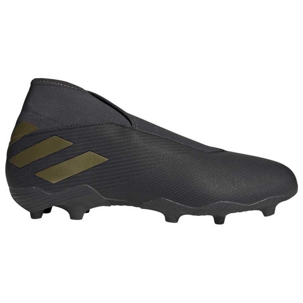 Adidas Nemeziz 19.3 Laceless Fg EU 39 1/3 Core Black / Gold Metal / Utility Black