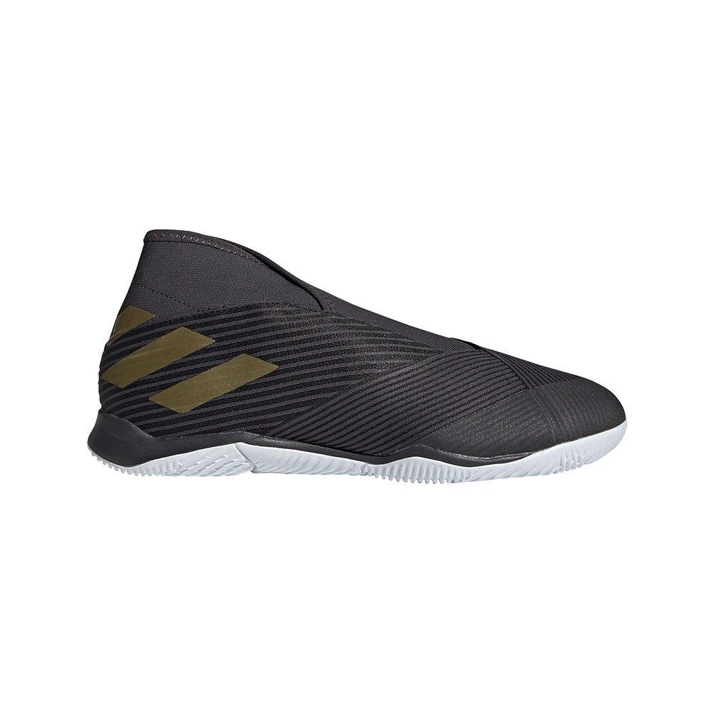 Adidas Chaussures Football Salle Nemeziz 19.3 Laceless In EU 44 2/3 Core Black / Gold Metal / Utility Black