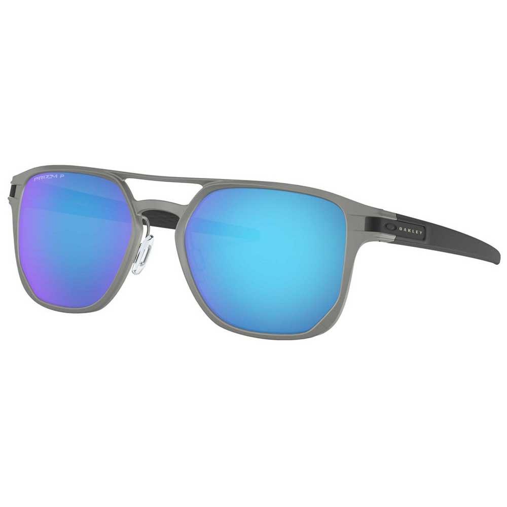 Oakley Latch Alpha Prizm Sapphire Polarized/Cat3 Matte Light Gunmetal