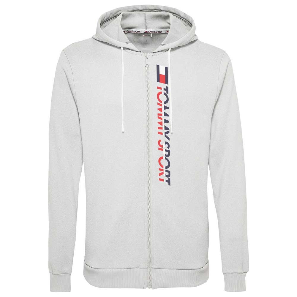 Tommy Hilfiger Sportswear Veste À Capuche Vertical Logo S Grey Heather