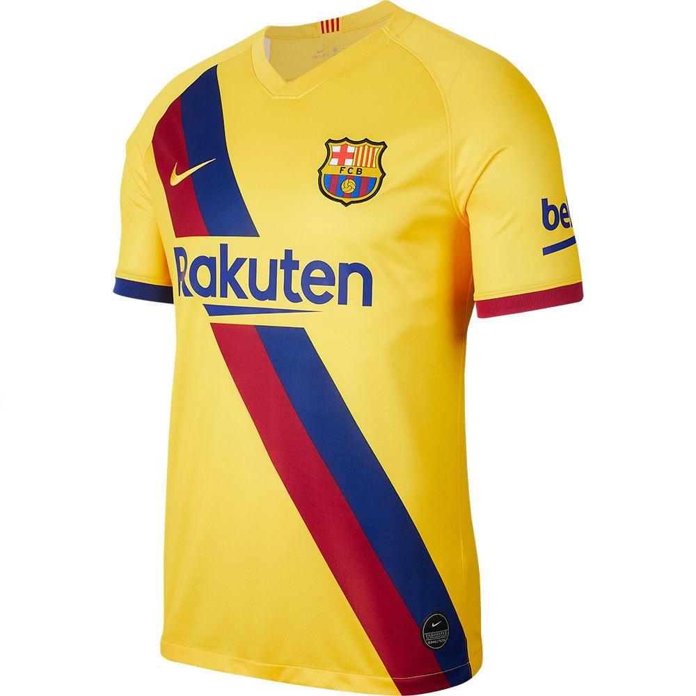 Nike T-shirt Fc Barcelona Extérieur Breathe Stadium 19/20 S Varsity Maize / Varsity Maize