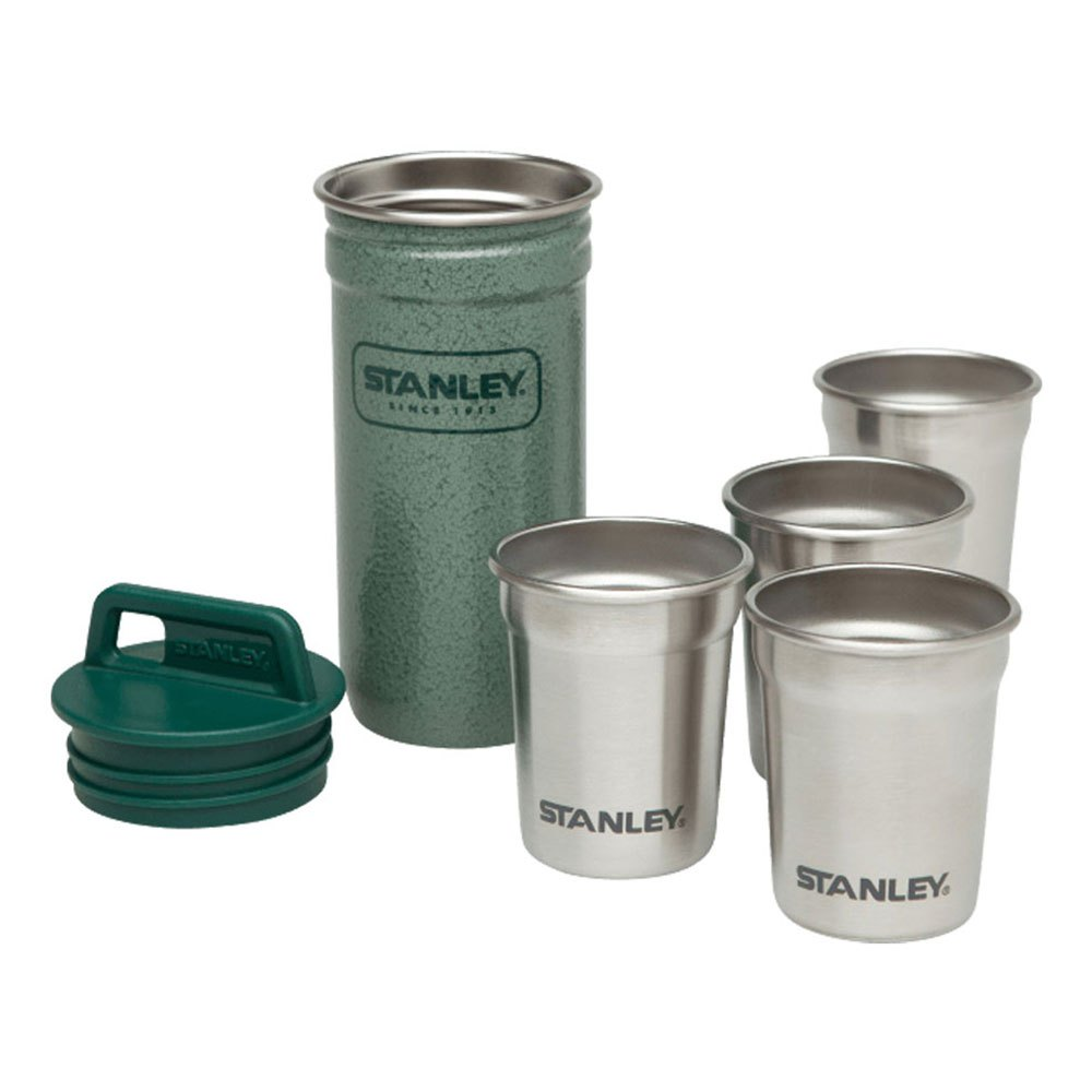 Stanley Set 4 Glasses 590ml + Green Canister One Size Green