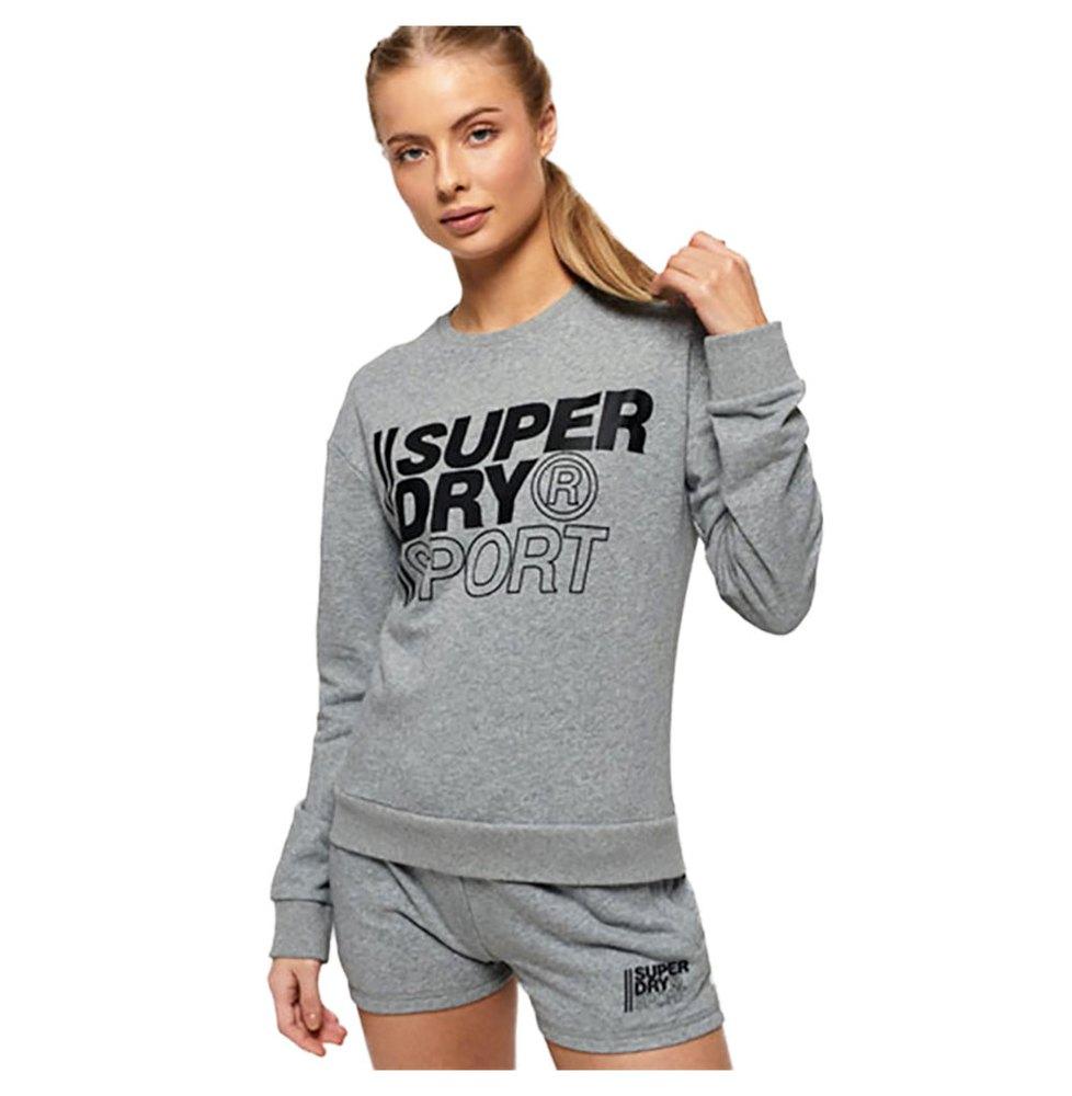 Superdry Sweatshirt Core Sport Crew M Grey Marl