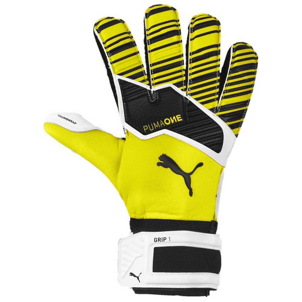 Puma Gants Gardien One Grip 1 Rc 10 1/2 Yellow Alert / Puma Black / Puma White