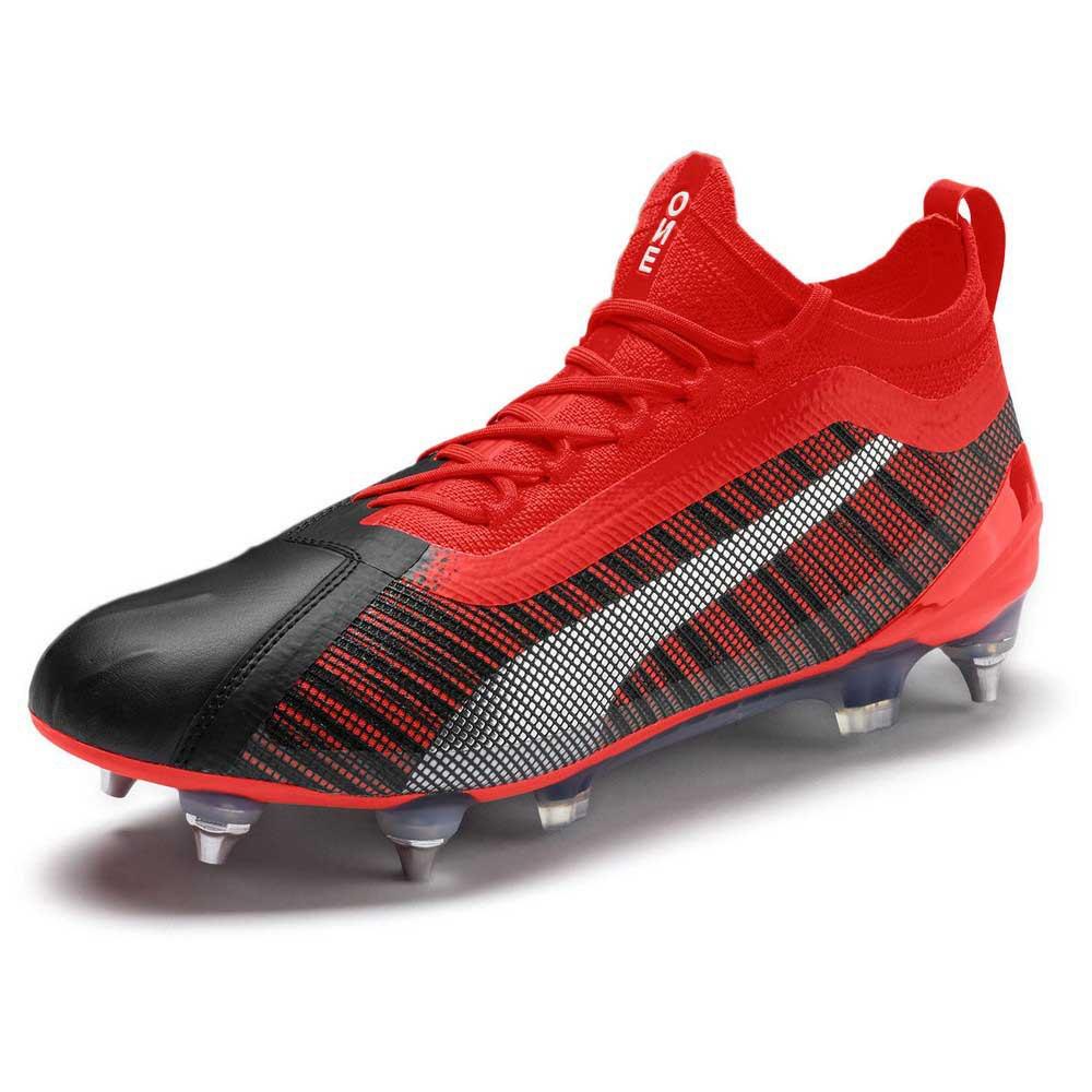 Puma One 5.1 Mix Sg Football Boots EU 45 Puma Black / Nrgy Red / Puma Aged Silver