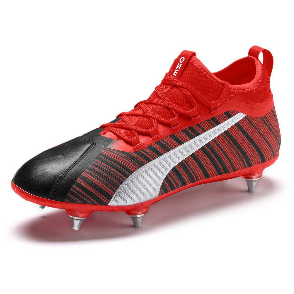 Puma Chaussures Football One 5.2 Sg EU 45 Puma Black / Nrgy Red / Puma Aged Silver