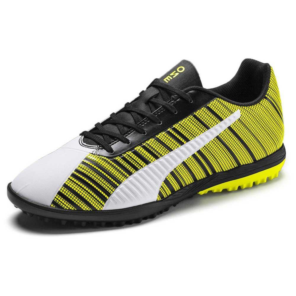Puma Chaussures Football One 5.4 Tt EU 38 1/2 Puma White / Puma Black / Yellow Alert