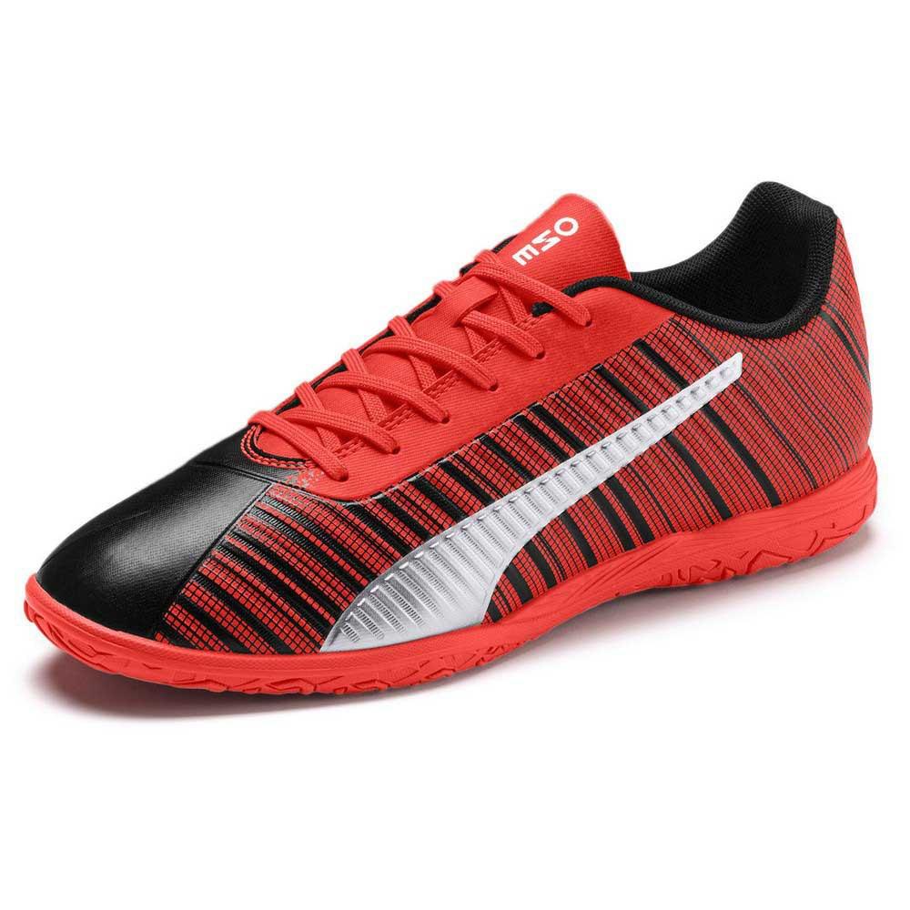 Puma Chaussures Football Salle One 5.4 It EU 45 Puma Black / Nrgy Red / Puma Aged Silver