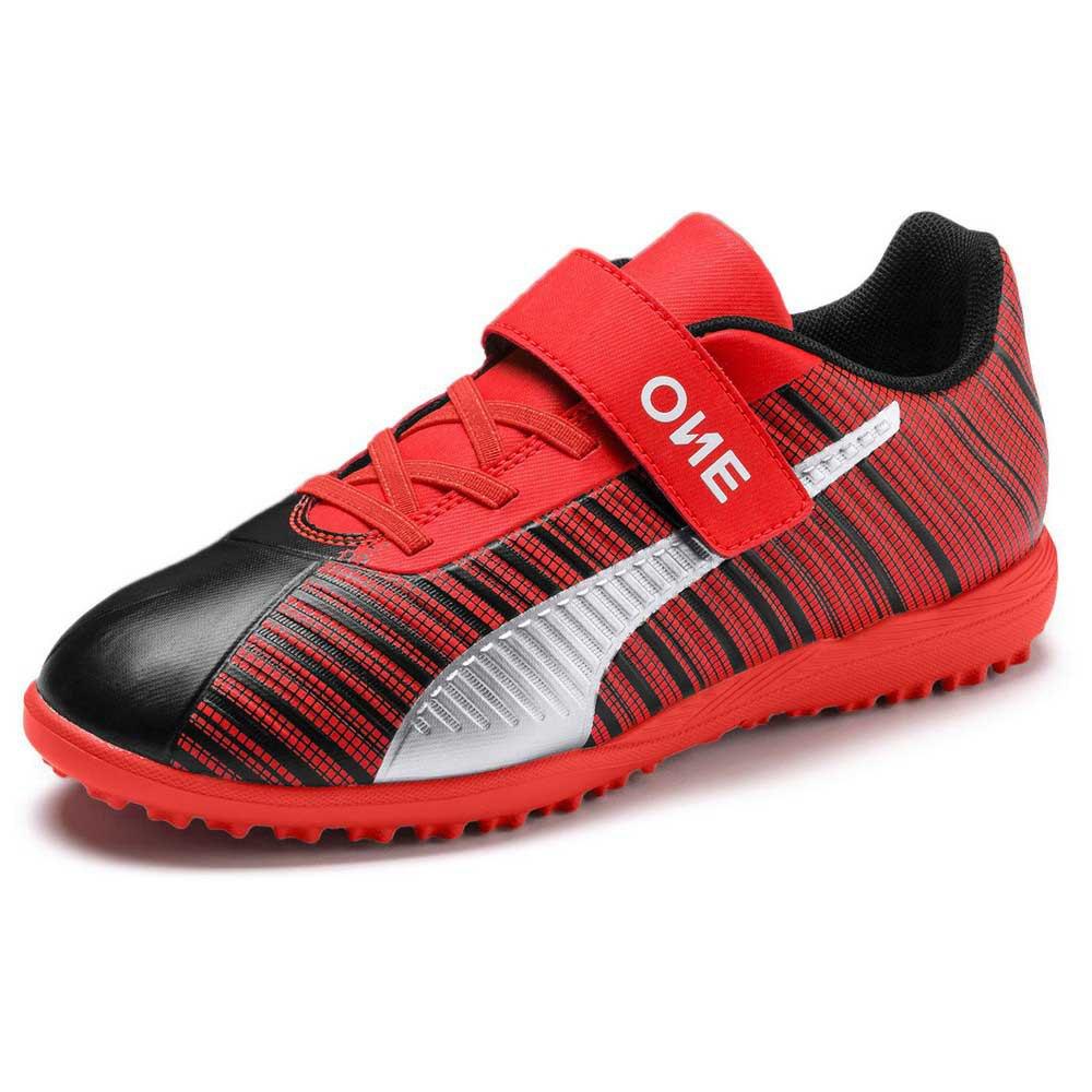 Puma Chaussures Football One 5.4 Velcro Tt EU 37 Puma Black / Nrgy Red / Puma Aged Silver