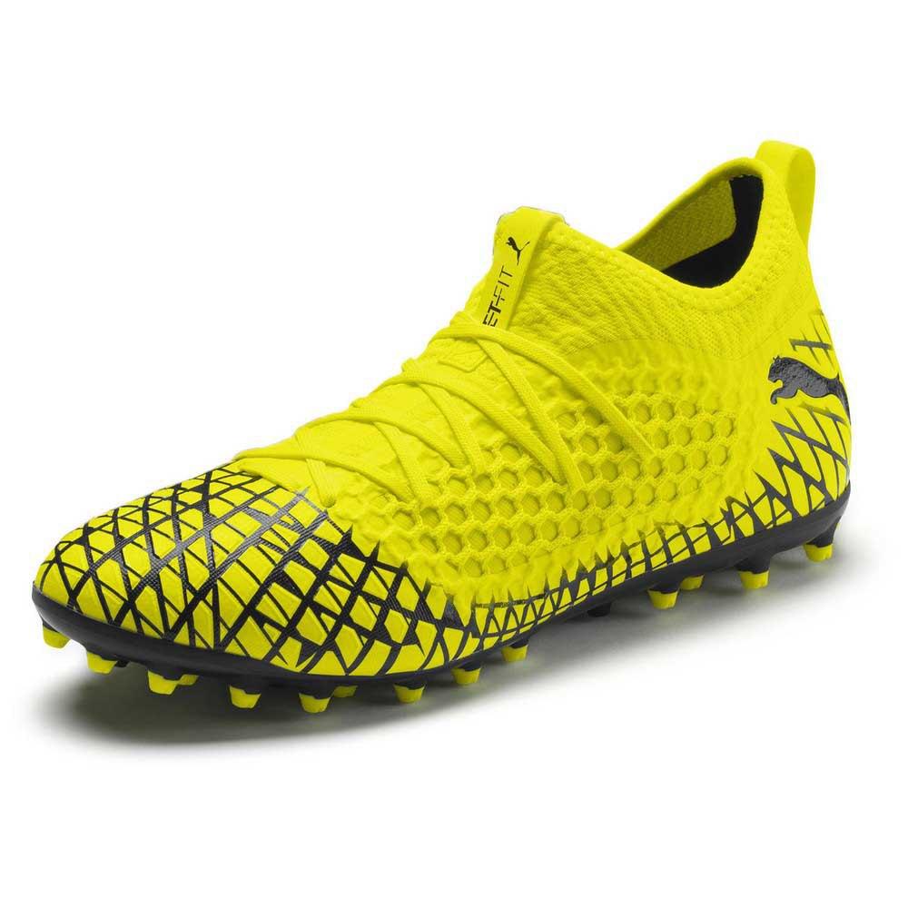 Puma Chaussures Football Future 4.3 Netfit Mg EU 36 Yellow Alert / Puma Black