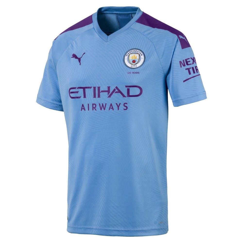 Puma Manchester City Fc Home 19/20 L Team Light Blue / Tillandsia Purple