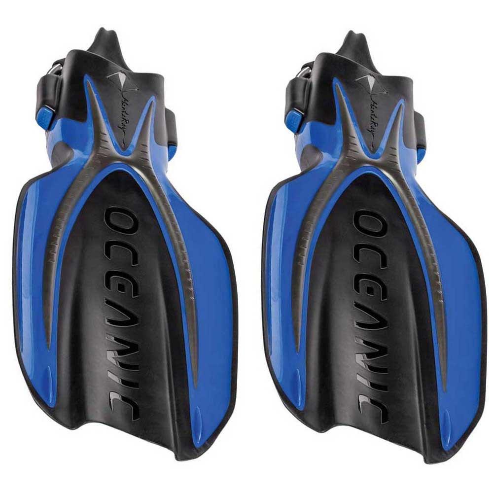 Oceanic Manta Ray Taucherflossen EU 37-41 Blue/Black Einstellbare Flossen Manta Ray Taucherflossen