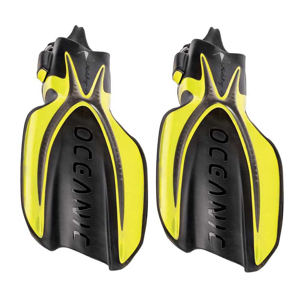 Oceanic Manta Ray Taucherflossen EU 37-41 Yellow/Black Einstellbare Flossen Manta Ray Taucherflossen