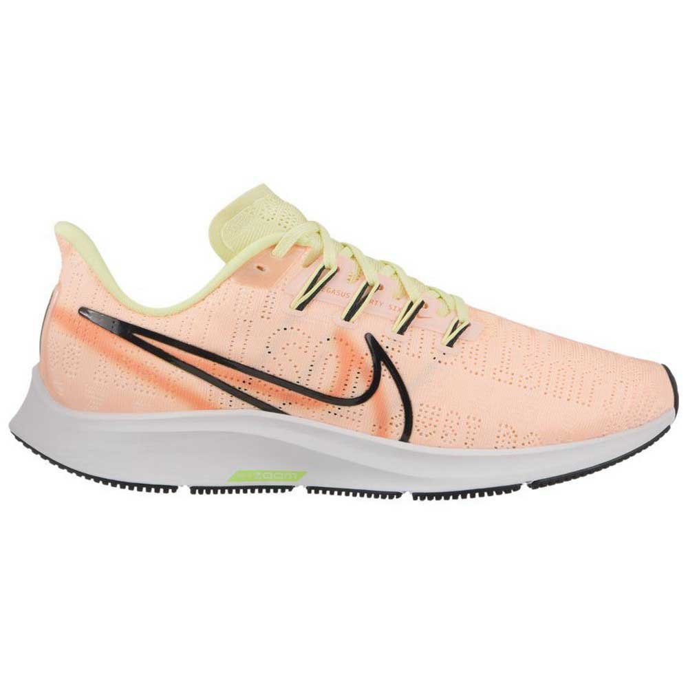 Nike Air Zoom Pegasus 36 Premium Rise EU 40 1/2 Crimson Tint / Black / Luminous Green