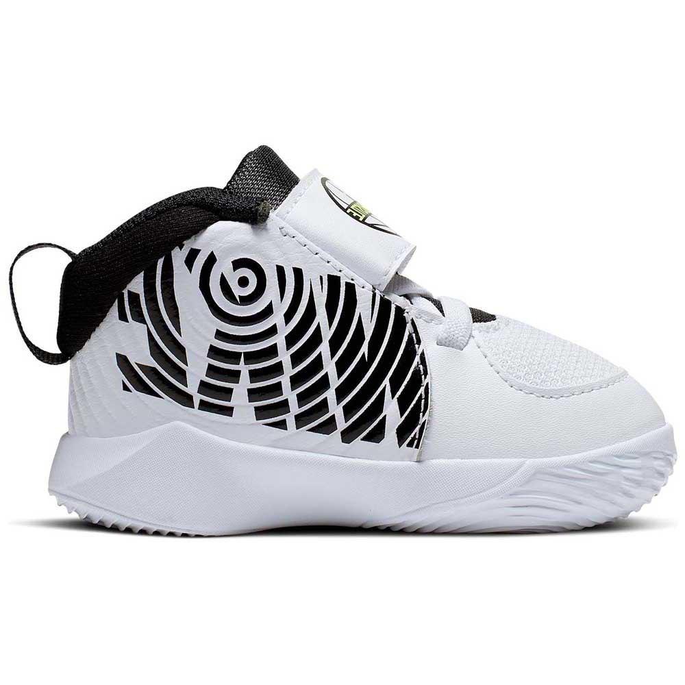 Nike Team Hustle D 9 Td EU 17 White / Black / Volt