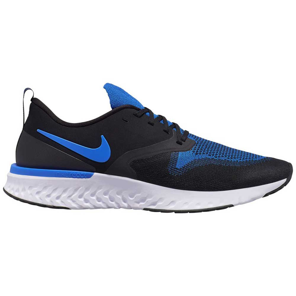 Nike Odyssey React 2 Flyknit EU 43 Black / Racer Blue / White