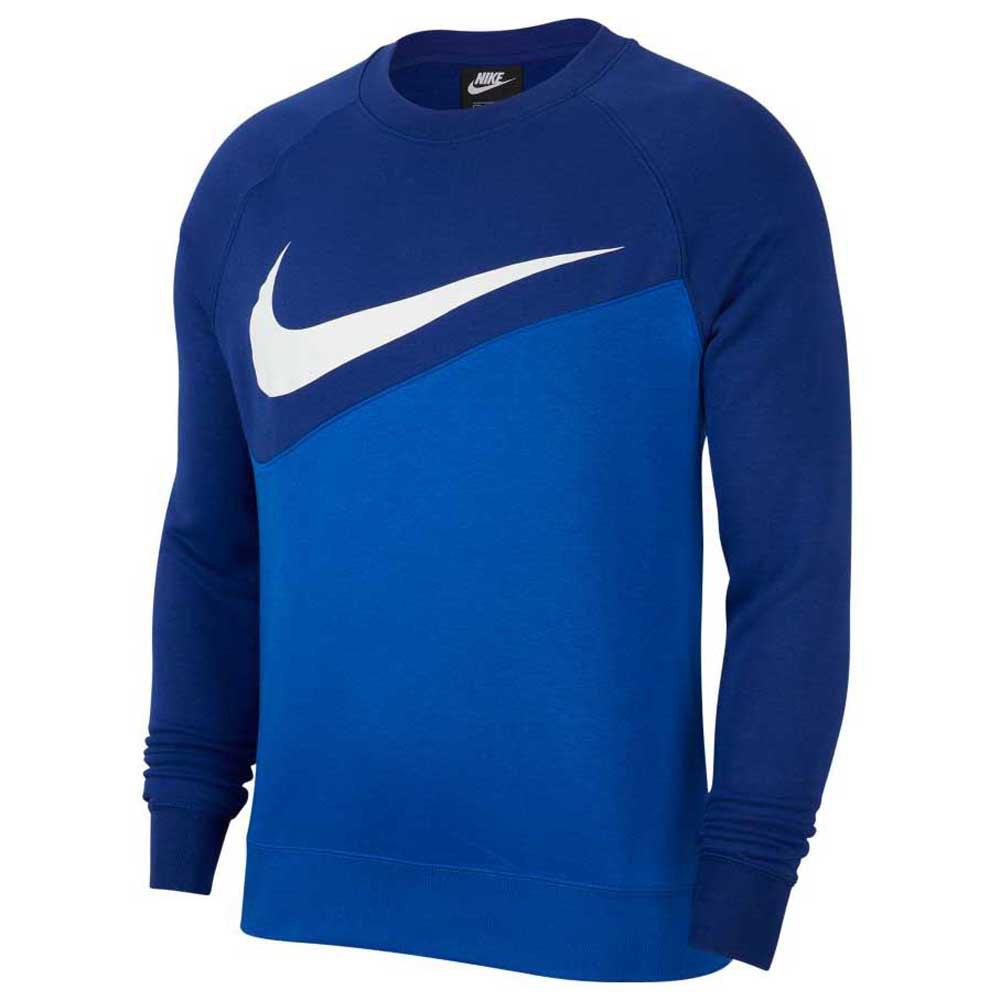Nike Sportswear Swoosh Crew Bb XL Game Royal / Deep Royal Blue / White