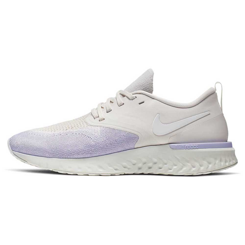 Nike Odyssey React 2 Flyknit EU 38 Platinum Tint / White / Lavender Mist