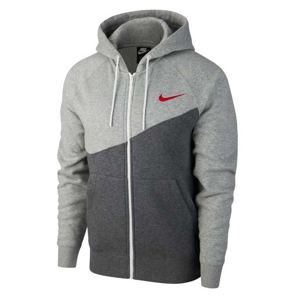 Nike Sportswear Swoosh Bb XL Charcoal Heather / University Red