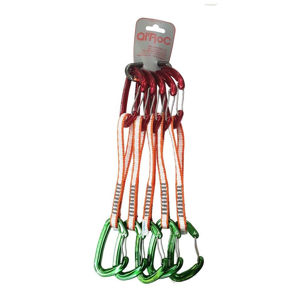 Qi´roc Pack 5 Set Wifi Straight/curve Clip+express Dyneema 10x170 Mm+mini One Size Red / Green