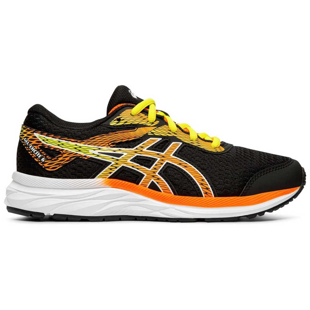 Asics Gel Excite 6 Gs EU 32 1/2 Black / Shocking Orange