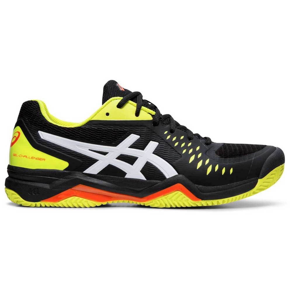 Asics Gel Challenger 12 Clay EU 48 Black / Sour Yuzu