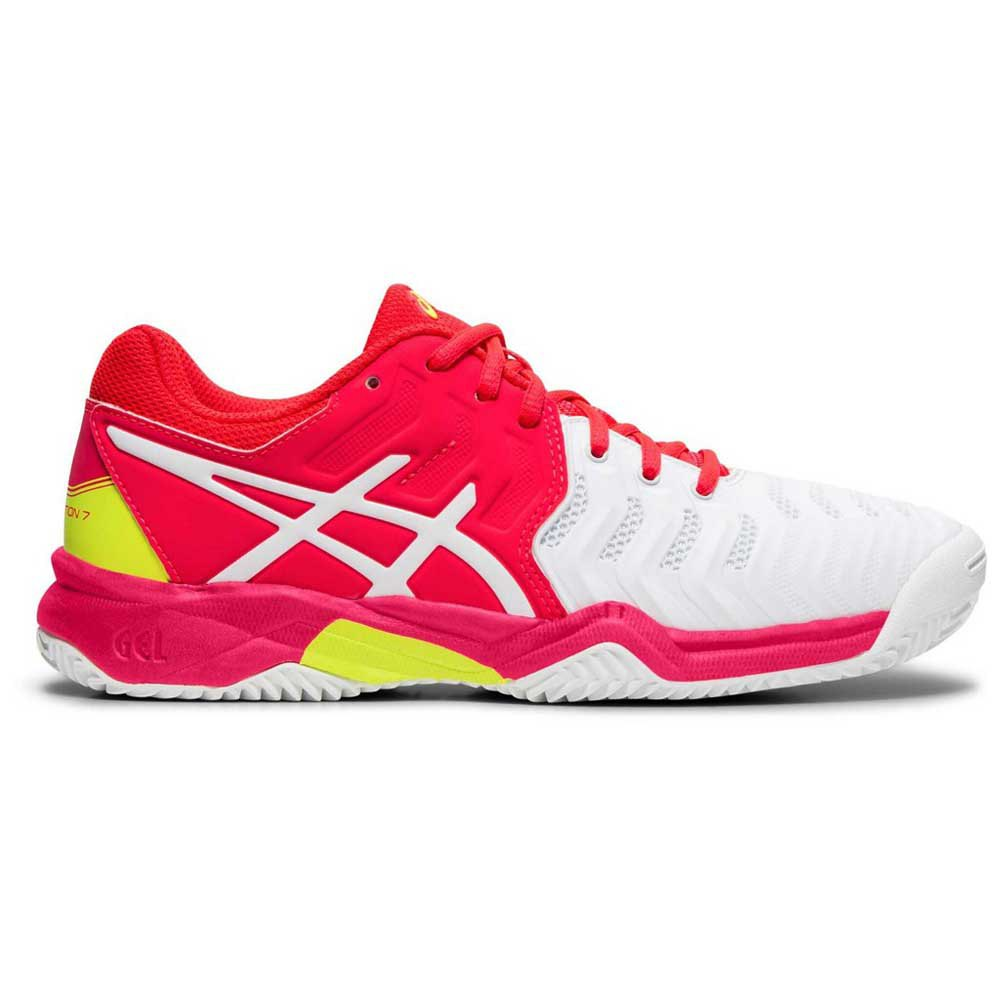 Asics Resolution Clay Gs EU 37 White / Laser Pink