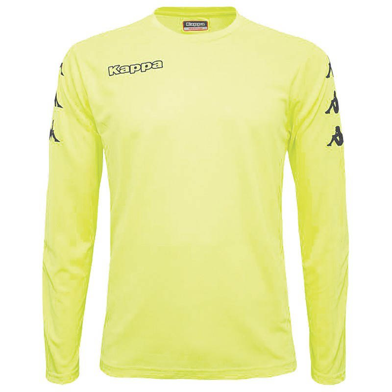 Kappa Goalkeeper T-shirt Manche Longue 6 Years Yellow Fluor