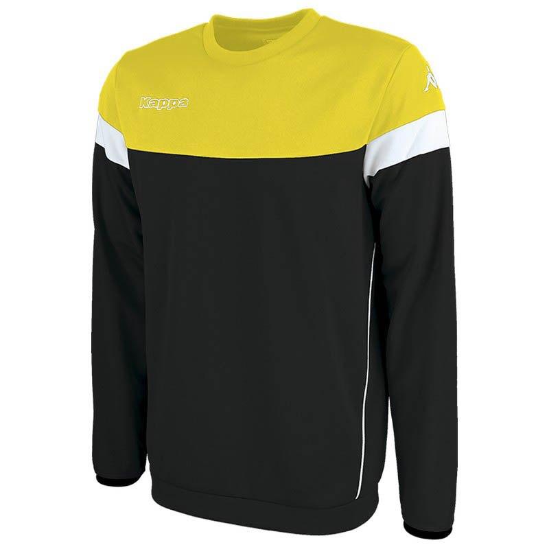 Kappa Sweatshirt Lido S Black / Yellow / White