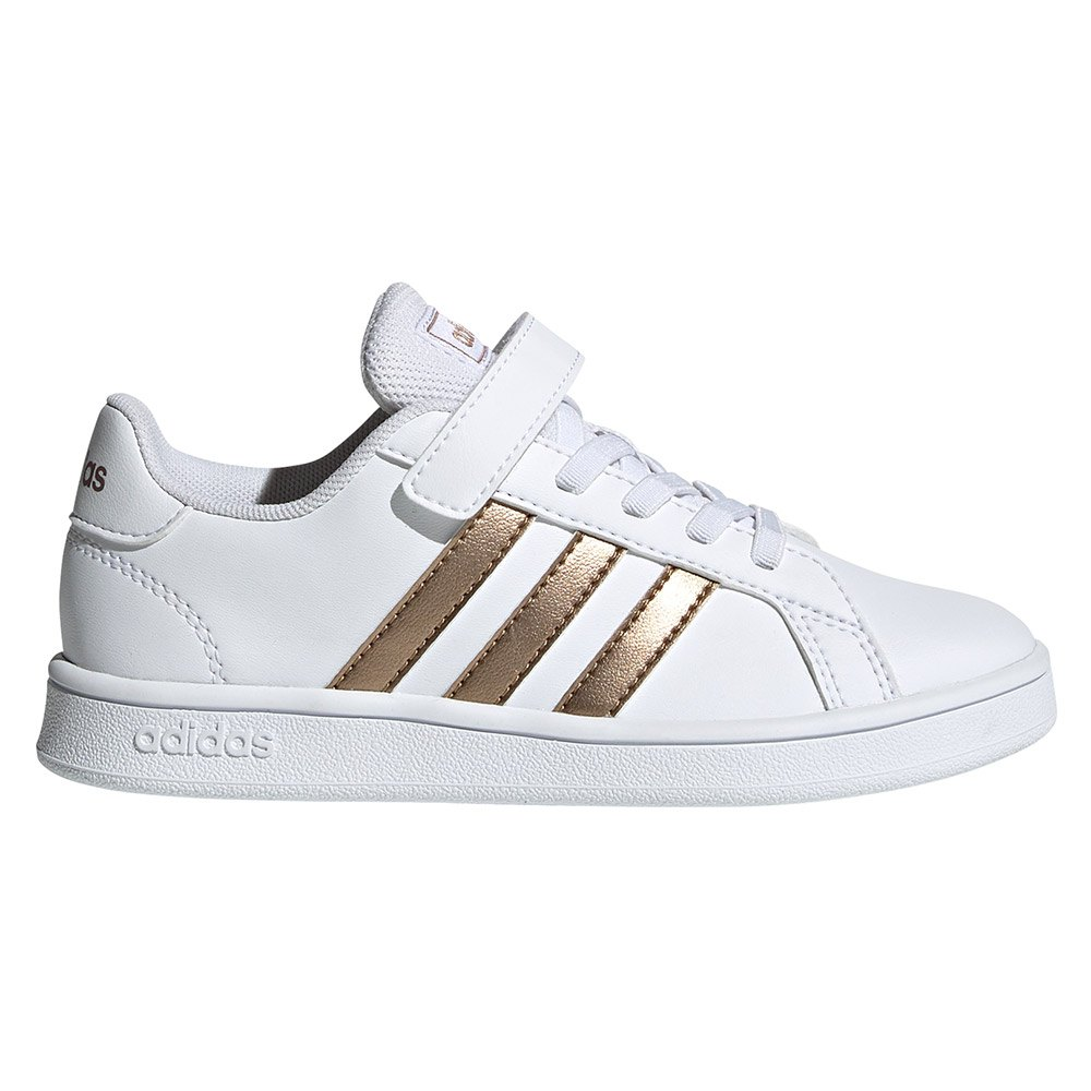 Sneaker Adidas Adidas Grand Court Children EU 34 Ftwr White / Copper Metal / Glow Pink
