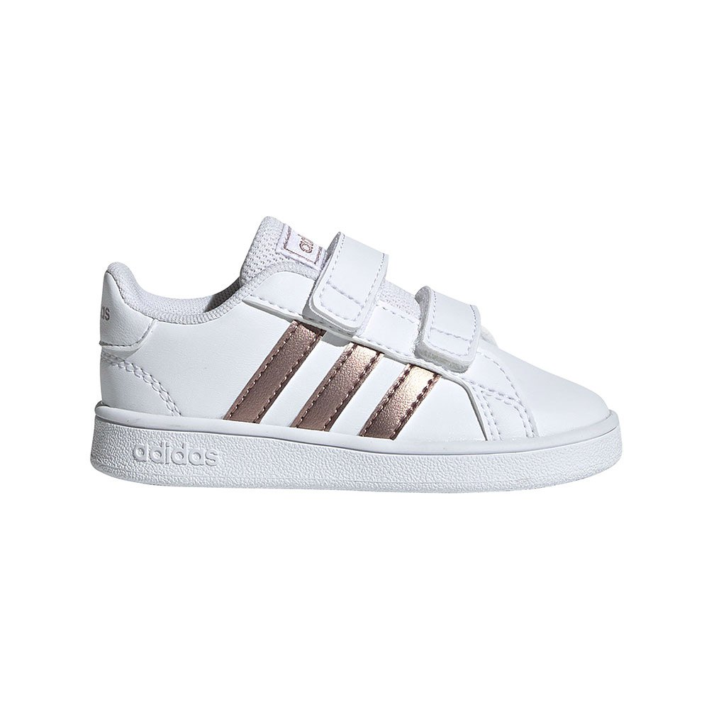 Adidas Grand Court Infant EU 25 Ftwr White / Copper Metal / Glow Pink