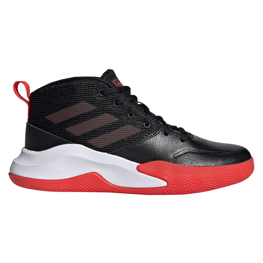 Adidas Own The Game Kid Wide EU 36 2/3 Core Black / Active Red / Ftwr White