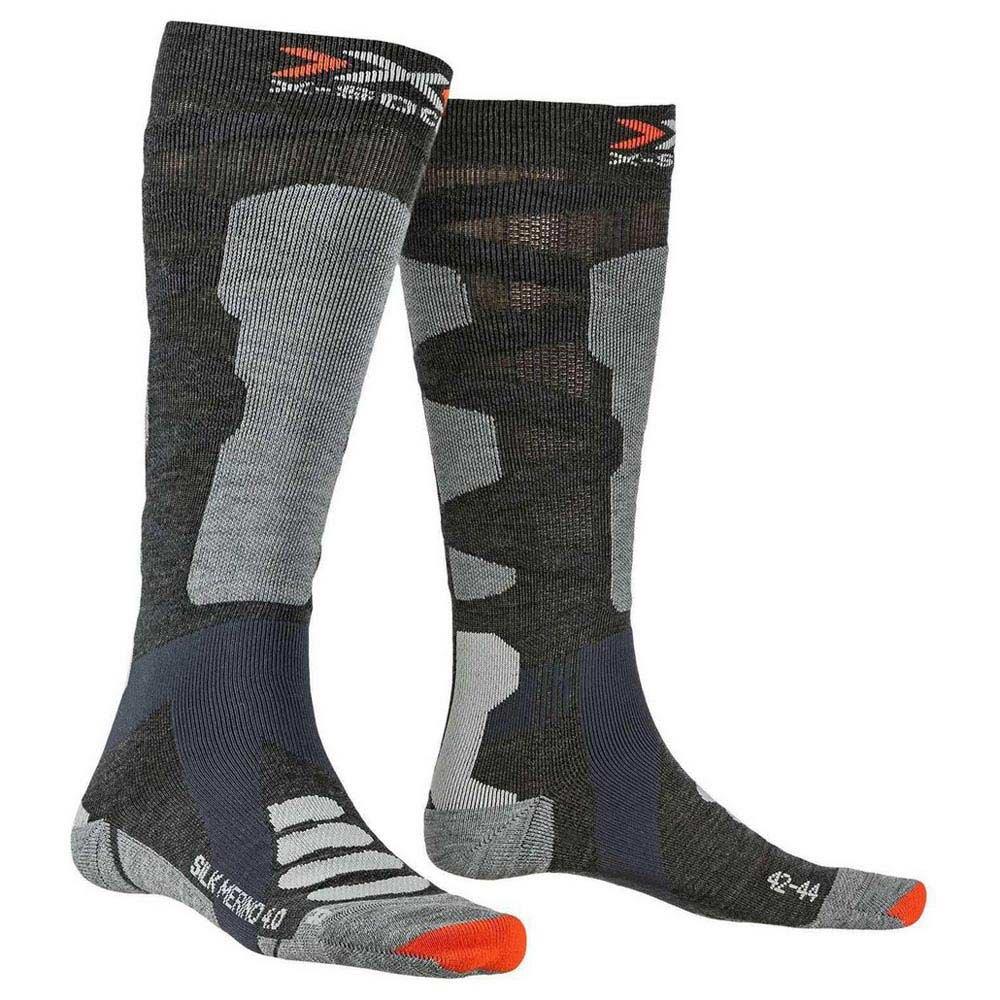 x-socks-ski-silk-merino-4-0-eu-35-38-anthracite-melange-grey-melange