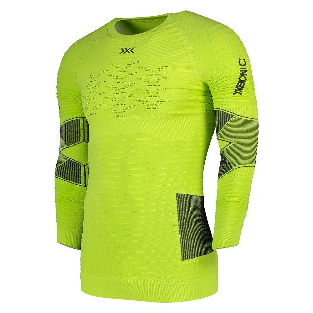 X-bionic Effektor 4.0 Run Long Sleeve T-shirt XXL Effektor Green / Anthracite