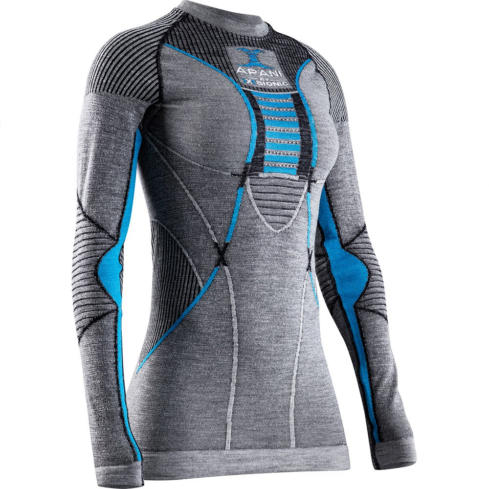 X-bionic Apani 4.0 Merino XS Black / Grey / Turquoise