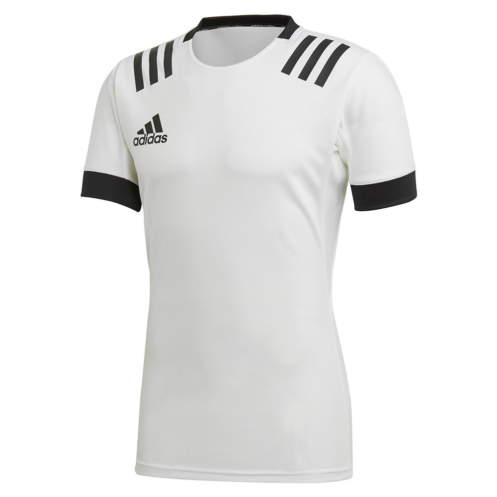Adidas 3 Stripes Fitted Rugby L White / Black