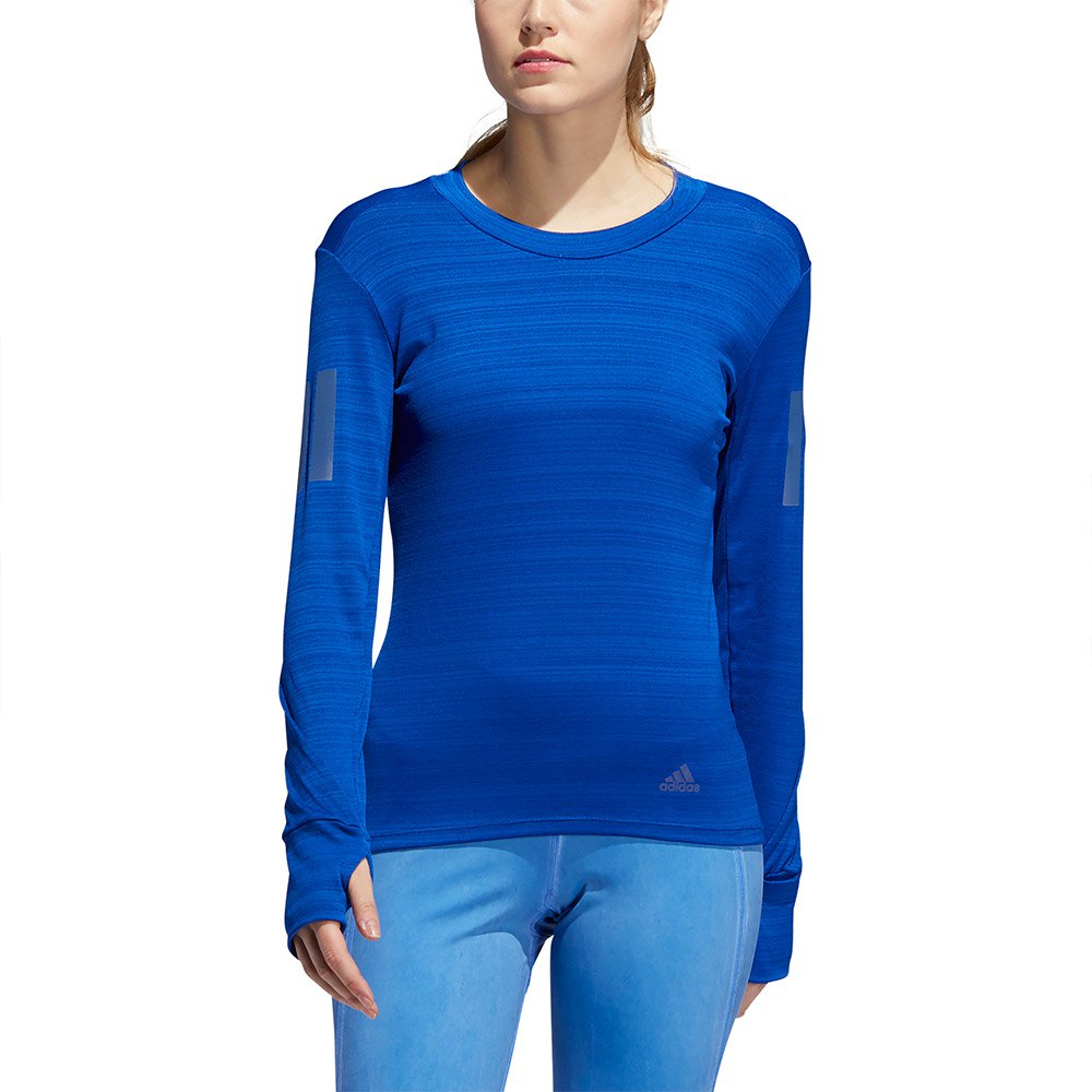 Adidas-Rise-Up-N-Run-Bleu-T04183-T-Shirts-Femme-Bleu-T-Shirts-adidas miniature 9