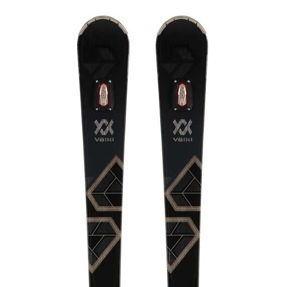 Volkl Flair Sc Carbon+vmotion 11 Alu Gw Woman Alpine Skis 165 Black